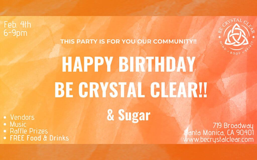 Happy 1st Birthday Be Crystal Clear & Sugar!
